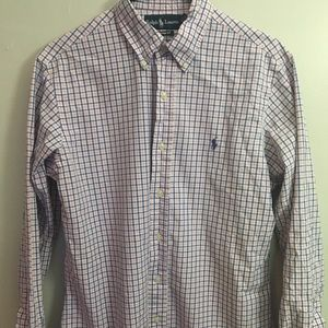 Ralph Lauren Pink and Blue Button Down